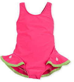 Florence Eiseman Watermelon Slice One-Piece Swimsuit, Red, 2T-4T