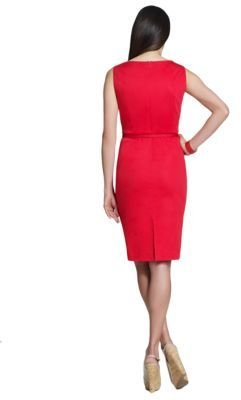 Jones New York Collection Dress with Released Tuck at the Neckline