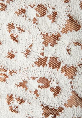 Catherine Malandrino BLACK LABEL Quantum Lace Top in Ivory