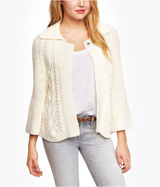 Express Cropped A Line Sweater Coat