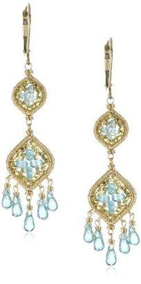 Dana Kellin Apatite Double Drop Fringe Earrings