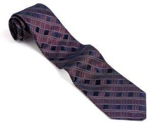 John Varvatos U.S.A. Classic Fit Checked Silk Tie