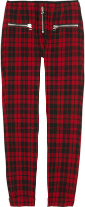 Etoile Isabel Marant Gary cropped tartan wool-blend pants