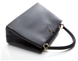 Louis Vuitton Pre-Owned Black Taurillon Capucines MM Bag