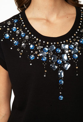 Forever 21 Bejeweled French Terry Sweatshirt