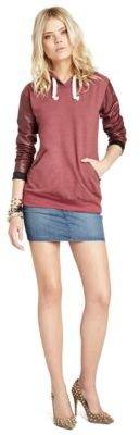 BCBGeneration Denim Stretch Faux Leather Skirt