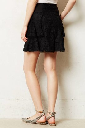 Nanette Lepore Charred Lace Skirt