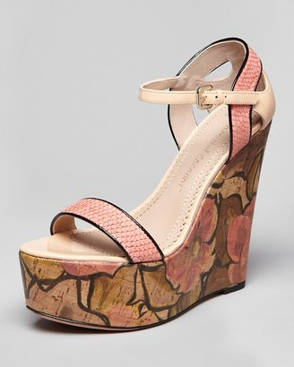 Jean-Michel Cazabat Platform Wedge Sandals - Tani High Heel