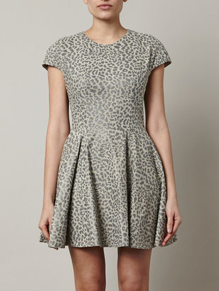 Lover Leopard-print leather dress