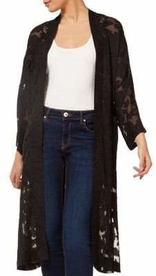 Dex Lace Open-Front Cardigan