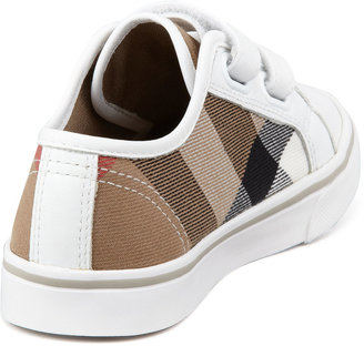 Burberry Check Double-Strap Sneaker, Youth