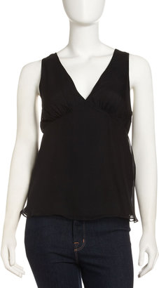Elizabeth and James Chiffon Lace-Up Top