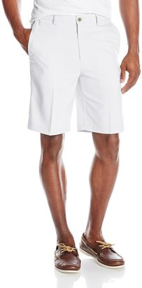 Haggar Men's Cool 18 Expandable Waist Solid Fill Oxford Weave Plain Front Short