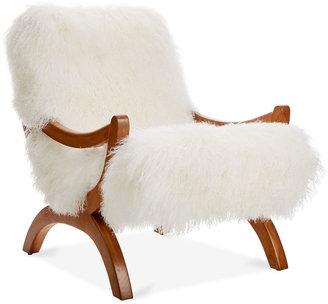 Le-Coterie JJ Accent Chair, Ivory Fleece