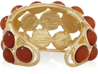 Kenneth Jay Lane Gold-plated cabochon cuff