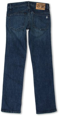 Volcom 2x4 Jean (Big Kids) (Cruz Blue) - Apparel