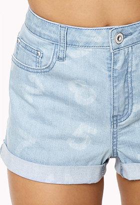Forever 21 Number Print Denim Shorts