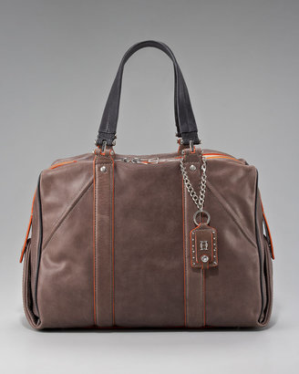 Olivia Harris Colorblock Leather Satchel