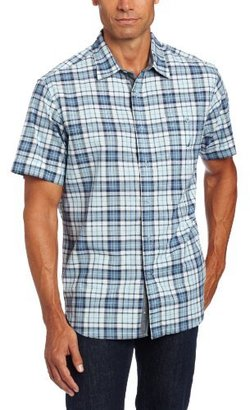 Nautica Men's Short Sleeve Multi Plaid