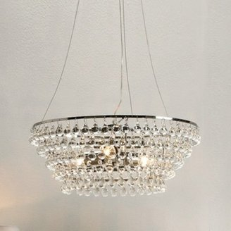 The White Company Glass Orb Chandelier Medium Ceiling Light, Clear, One Size