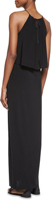 T-Bags T Bags Tiered Halter Maxi Dress, Black