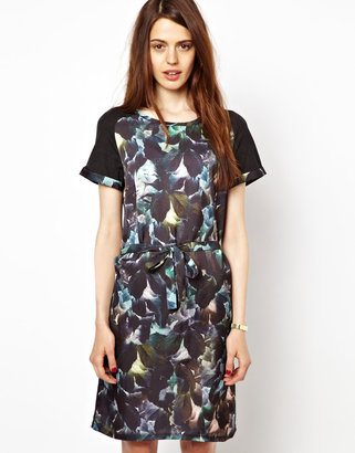 Paul Smith Paul by Paul's Photo's Dress with Graphic Leaves Print