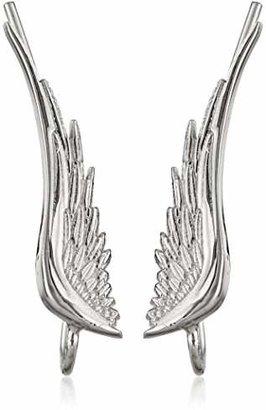 """The Ear Pin Sterling """"Whispering Angel Wings"""" Earrings"""