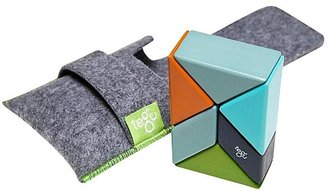Green Baby Tegu Pocket Pouch Prism Nelson Magnetic Blocks (6 pc)