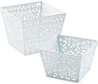 Container Store Brocade Open Bins