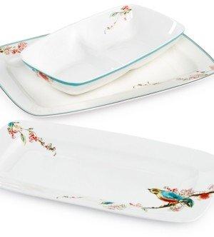 Lenox Simply Fine Dinnerware, Chirp 3 Piece Serveware Set