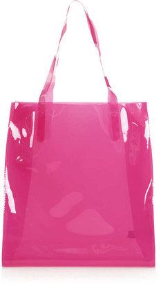 Topshop Semi Sheer Plastic Shopper Bag