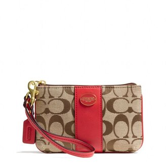 Coach Legacy Small Wristlet In Signature