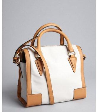 Pour La Victoire white and tan leather 'Verona' satchel