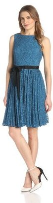 Adrianna Papell Women's Lace Fit-and-Flare Dress