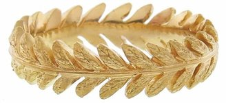 Cathy Waterman Laurel Leaf Band Ring - 22 Karat Gold