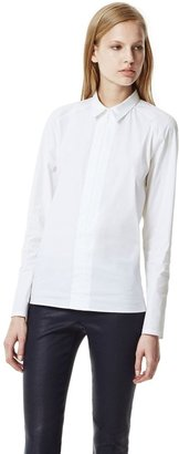 Theory Bida Shirt in Luxe Cotton Blend