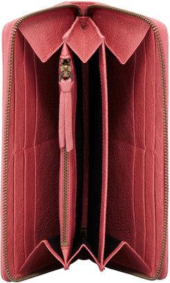 Balenciaga Classic Continental Zip Wallet, Rose Bombon