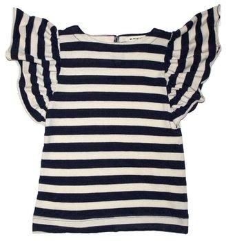 Anthem of the Ants - Girl's Short Sleeve Pinwheel Tee - Navy