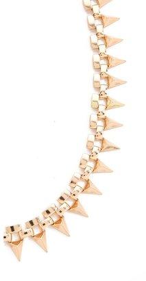 Noir Metal Mix Triangles Necklace
