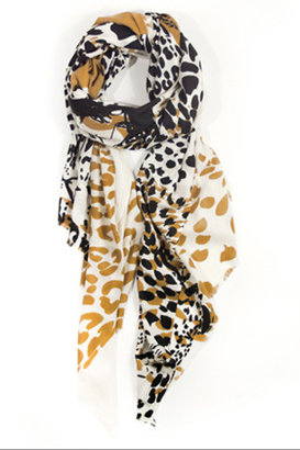 Marlow We Are Owls Leopards Scarf in Beige
