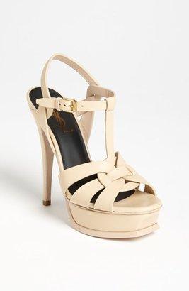 Women's Saint Laurent 'Tribute' Sandal $925 thestylecure.com