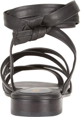 Fendi Lily Ankle-Wrap Sandals