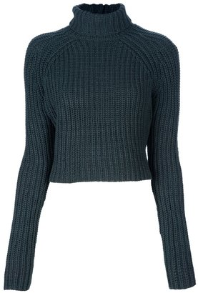 Alexander Wang Cropped chunky sweater