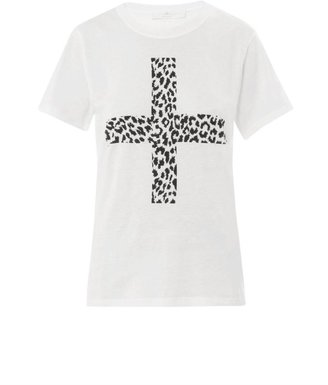Thakoon Angry leopard cross-front T-shirt