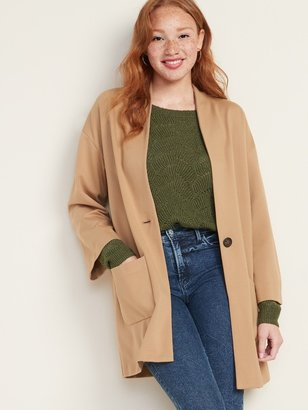 Old Navy Ponte-Knit Cocoon Coat for Women