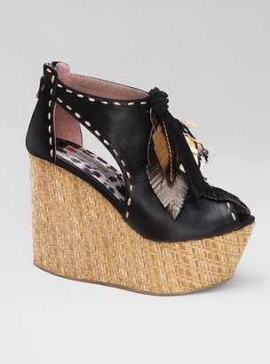 Two Lips Feather Espadrille Sandal