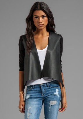 Velvet by Graham & Spencer Purity Ponti w/ Faux Leather Jacket