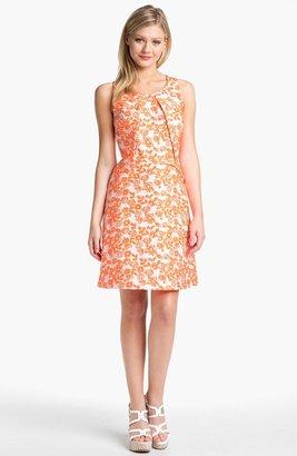 Betsey Johnson Sleeveless Floral Print Sheath Dress