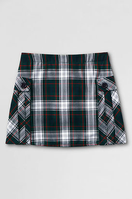 Lands' End Women's Perfect Fit Plaid Side Pleat Skort (Above the Knee)