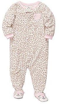 Carter's Carter's® Leopard Microfleece Footed Pajamas - Girls 12m-24m